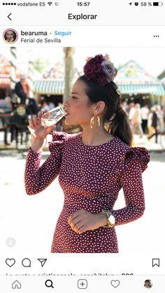 Spanish Fashion, Spanish Style, Colourful Outfits, Cool Outfits, Fashion Outfits, Dance Dresses, Summer Dresses, Flamenco Costume, Fiesta Outfit