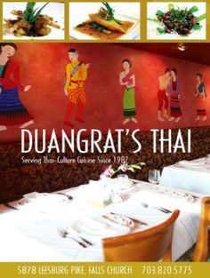 Best Thai of my life- miss it!!! Duangrat's Thai Restaurant/ 703-820-5775/ 5878 Leesburg Pike, Falls Church, VA 22041