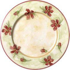 Assiette floral. palluy