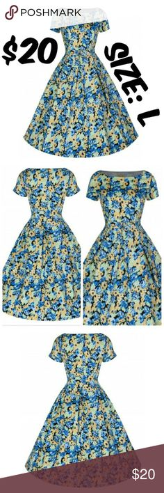 """Dapper Day Girl Lindy Bop Pin Up Clothing Dress ITEM #112 PRICE: $20 BUST: 38"""" WAIST: 30"""" CONDITION: USED. GOOD. NO RIPS OR STAINS. BRAND: LINDY BOP Lindy Bop Dresses"""