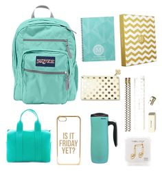 Back To School by bri606 on Polyvore featuring JanSport, Betty and Betts, Happy Plugs, ASOS, Kate Spade and ALADDIN