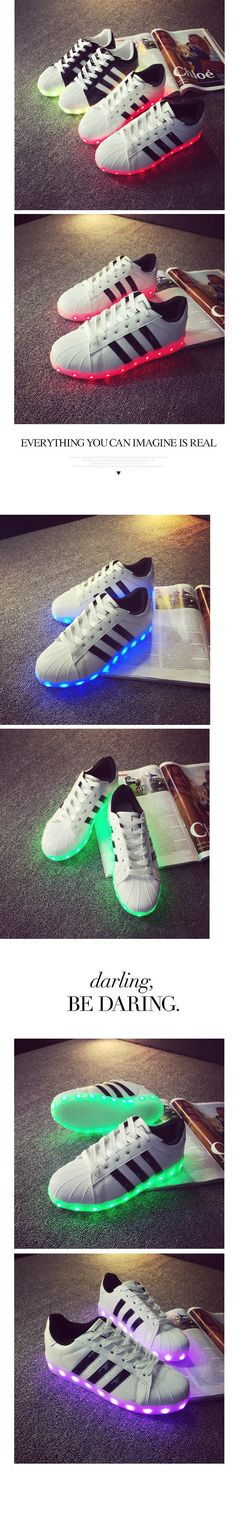 new arrival 65007 4b367 28.0  Led lumineux chaussures 2015 Casual chaussures LED chaussures pour  femmes et hommes mode adultes LED se allume USB charge chaussures Chaussure  ...