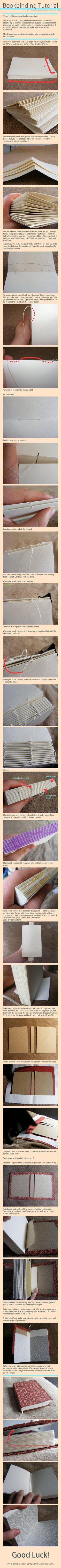 make'em books - via Imgur  a quick visual guide and steps to creating your own beautiful hand bound books!!