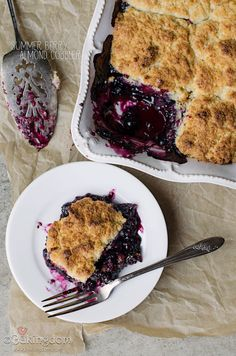 Summer Berry Almond Cobbler. It's very cobble-y. In all the best ways.
