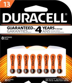 Duracell - EasyTab PR48 Batteries (8-Pack) - White, Orange