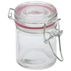 Mini bocal joint rose 4,5 cl (x12) Mason Jars, Mini, Tableware, Contour, Glass Jars, Flasks, Wrapping, Custom Ribbon, Jar