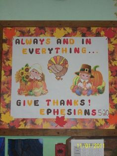 Bulletin Board Ideas for Fall Thanksgiving