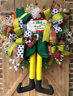 Buddy The Elf WreathElf Movie WreathJolly Elf WreathElf Christmas Elf, Christmas Ideas, Xmas, Christmas 2019, Holiday Ideas, Christmas Decorations, Holiday Wreaths, Holiday Decor, Holiday Crafts