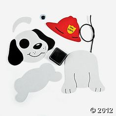 24 Fire Safety Dalmatians Craft Kit - Oriental Trading