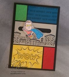 Who's your Everyday Hero? Occasions Catalogue Stampin' Up! Spinner card