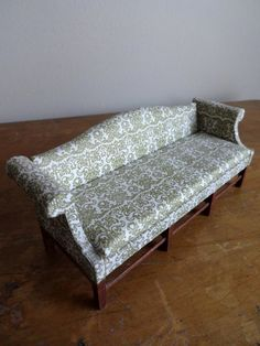 Beautiful vintage miniature mint and cream couch by TheMagickAttic, $29.95