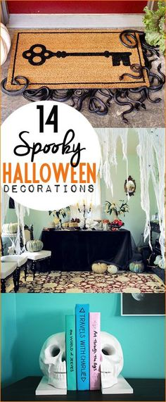 Spooky Halloween Decorations for your Haunted House.  Skull, snake and spider web home decor that will dress your home up for Halloween.  Scary yet darling decorations for your porch and inside spaces.  Cute Halloween party decorations or Halloween gifts.
