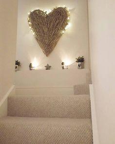 Oversized Lighted Grapevine Heart Wreath
