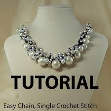 Image result for crochet and beaded necklace pattern