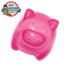 KONG Squeezz Jels Pig - Cerdito con Squeaker color Rosa