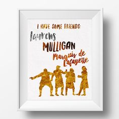 Hamilton Musical Broadway #SquadGoals Laurens Mulligan Lafayette Right Hand Man 8x10 Poster Print