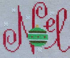 completed cross stitch Lizzie Kate Christmas Noel