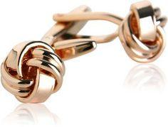 $30 Amazon.com: Rose-Gold Tone Knot Cufflinks by Cuff-Daddy: Cuff-Daddy: Jewelry