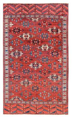 Yomud Main Carpet Turkmenistan first half 19th century 10 ft. 1in. x 6ft., 308 x 183 cm