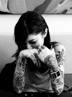Tattooed girl. #tattoo #tattoos #ink #inked