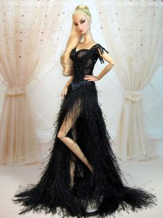Eifeldolldress Fashion royalty evening dress outfits gown barbie silkstone 0029 #EIFELDOLLDRESS #ClothingAccessories