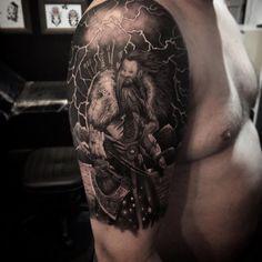Viking Tatuagem Nórdico Nordic Tattoo Sleev Vikings @duartetattoo Ink Tattooed Inked Blackandgrey