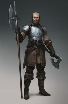 Yo dawg, I heard you like axes... This is a simple, functional armor scheme that looks good. I'm all for eagle helm crests and lion pauldrons, but sometimes you just want to not get stabbed in the gut, ya'know? #Lifegoals. DnD Armor