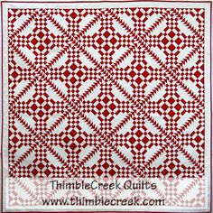 A Red Letter Day from Thimble Creek Quilt Shop Two Color Quilts, Blue Quilts, Antique Quilts, Vintage Quilts, Quilt Kits, Quilt Blocks, Red And White Quilts, Quilting Designs, Quilt Design
