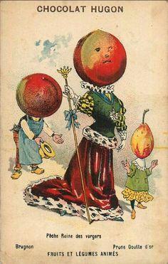 Chocolat Hugon -  Fruits et légumes animés