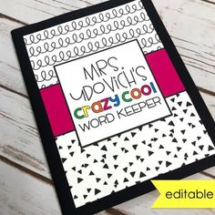 With a little inspiration from Astrobright journals and notebooks, I created four editable covers in three different sizes for you! Middle School Classroom, First Grade Classroom, Kindergarten Classroom, High School Students, Classroom Decor, Teacher Binder, Teacher Organization, Communication Log, Hallway Displays