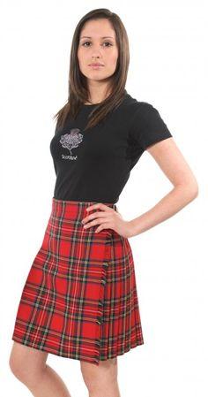 12oz Pure Wool Ladies Knee Length Kilt, Royal Stewart | Kilts and Scottish Kilts from Edinburgh.
