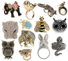 Passion for fashion: Animal rings