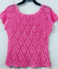 Summer Crochet Blouse/Crochet Fashion Summer,Spring ,Summer , Women Clothes / by Kninghandmade on Etsy Diy Crochet Shorts, Crochet Yoke, Crochet Poncho Patterns, Crochet Buttons, Crochet Girls, Crochet Jacket, Crochet Cardigan, Crochet Clothes, Black Crochet Dress