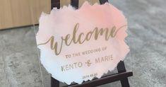 簡単おしゃれ海外風アクリルウェルカムボードの作り方 | ARCH DAYS Wedding Welcome Board, Welcome Boards, Welcome Table, Wedding Table, Birthday, Nice Asses, Welcome Back Boards, Birthdays, Dirt Bike Birthday