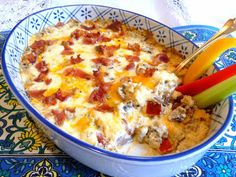 SPLENDID LOW-CARBING BY JENNIFER ELOFF: BACON AND CHEESE STUFFED MUSHROOM DIP - Oooh, yummy!  Beyond awesome! Visit us for more yummy recipes at: https://www.facebook.com/LowCarbingAmongFriends AND https://www.facebook.com/LowCarbHitParade