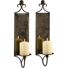 Shop for Hammered Mirror Wall Sconce Candle (Set of 2). Get free shipping at Overstock.com - Your Online Home Decor Outlet Store! Get 5% in rewards with Club O!