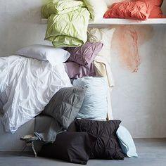 Organic Cotton Pintuck Duvet Cover + Shams #westelm