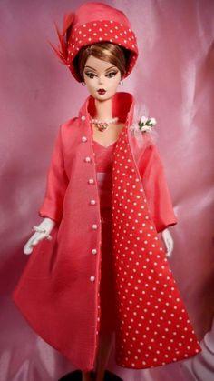 Vintage Repro Barbie Silkstone FR Poppy Parker Fashion Handmade Dress OOAK /Mary