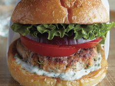 Andouille and Beef Burgers with Spicy Mayo and Caramelized Onions ...