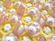 Crochet Easter Baby Blanket PDF PATTERN by TSBCrochetPatterns