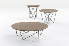 Yohsi, table basse ronde Kendo Ø 100 / Ø 120 cm Metal Furniture Legs, Table Furniture, Home Furniture, Coffee Table Design, Round Coffee Table, Living Room Modern, Living Spaces, Yoshi, Steel Table