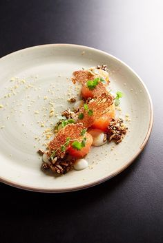 Hickory Smoked Salmon, rye, wild rice, bottarga, Burnett Follow me on Instagram @bradenwhitechef - The ChefsTalk Project #plating #foodart #gastronomy
