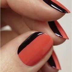 Naranja y negro elegante