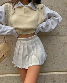 Indie Outfits, Teen Fashion Outfits, Retro Outfits, Cute Fashion, Look Fashion, Korean Fashion, Fashion Killa, Cute Skirt Outfits, Cute Casual Outfits