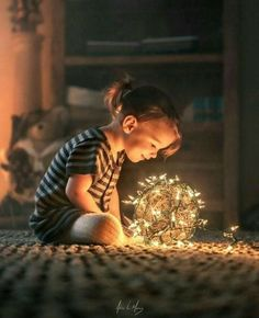 children photography Holiday lights by Adrian C. M - photography