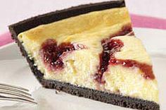 PHILADELPHIA 3-STEP White Chocolate-Raspberry Swirl Cheesecake recipe
