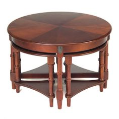 truly unique and truly functional this round coffee table with 4 nested side tables adds needed