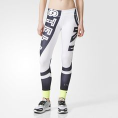 Designed in collaboration with Stella McCartney, these adidas STELLASPORT tights will get you noticed. In a bold print, these training tights are made in soft stretch doubleknit and feature climalite® fabric that wicks away moisture for a dry, comfortable feel.