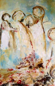 Angels...abstract painting