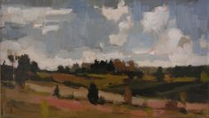 Paula Rubino, Untamala Fields, 8 x 13.75 in, oil on linen board